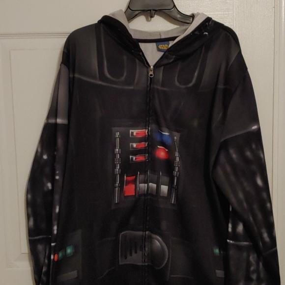 Star Wars Zip Up Hoodie with Darth Vader Mask. XXL